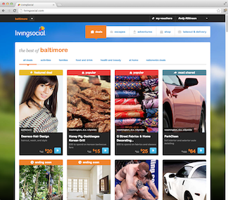LivingSocial screenshot